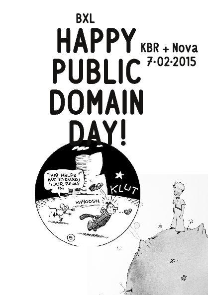 Flyer Public Domain Day - Feest van het publiek domein (hoge resolutie: zie pdf)
