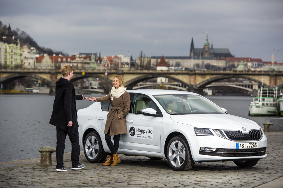 ŠKODA AUTO DigiLab adds to its own carsharing portal HoppyGo through joint venture