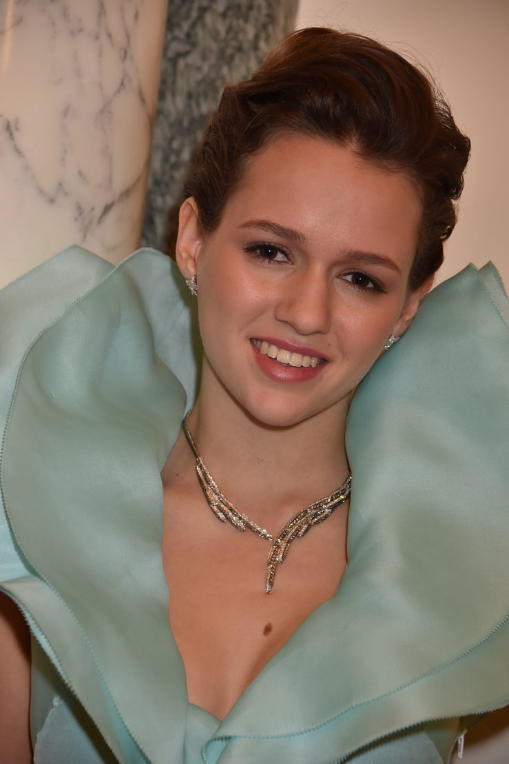 Princess Emilia von Auersperg-Breunner in Emmanuel Ungaro, Payal New York, Photo by Jean Luce Huré