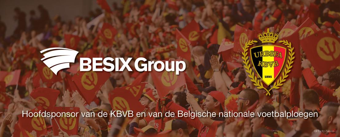 BESIX Group binnenkort officiële sponsor van de Rode Duivels