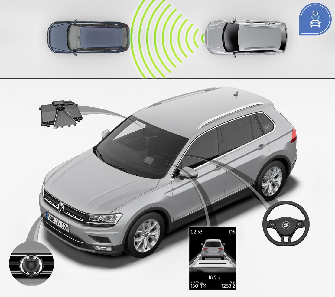 Le nouveau Tiguan se voit décerner la note maximale de 5 étoiles dans les tests encore plus exigeants Euro NCAP