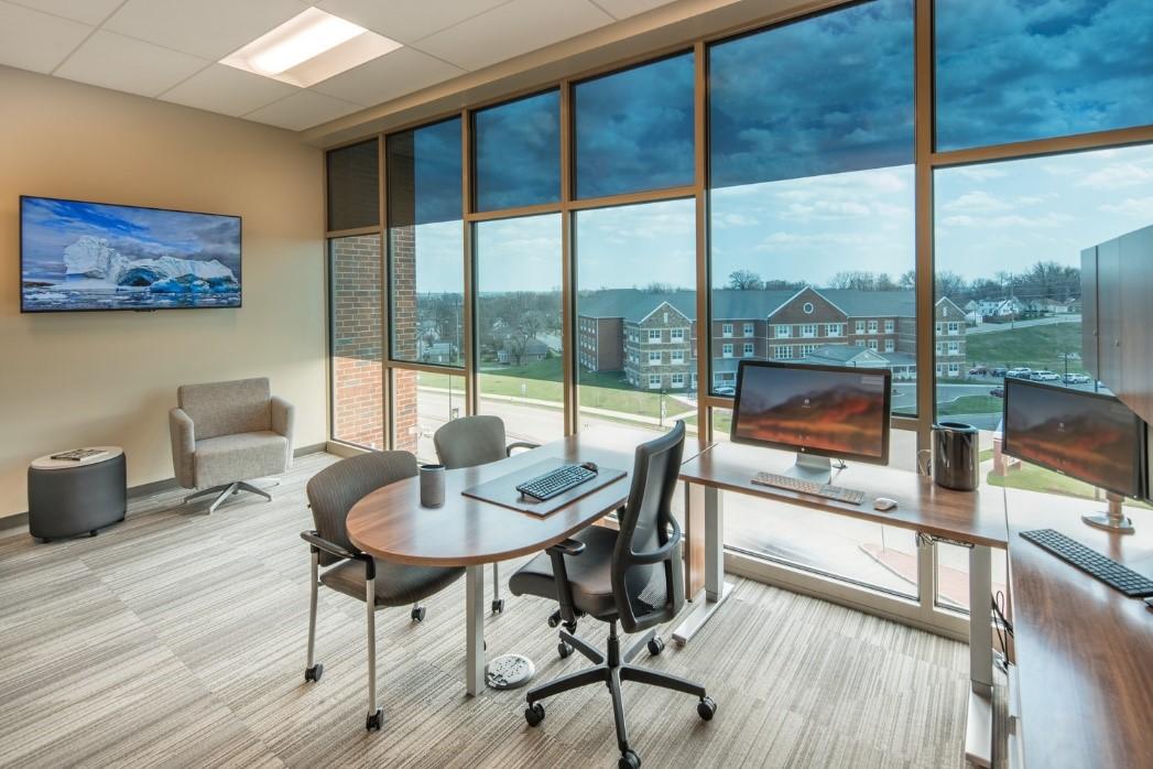Voice controlled SageGlass at Saint-Gobain North American Headquarters, Malvern, USA
