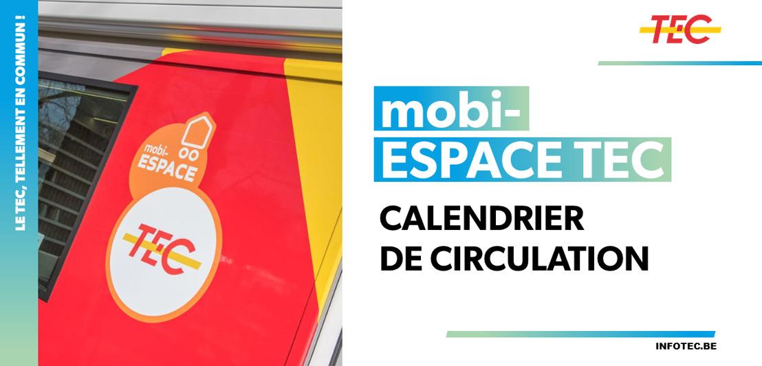 mobi-ESPACE TEC | Calendrier de circulation