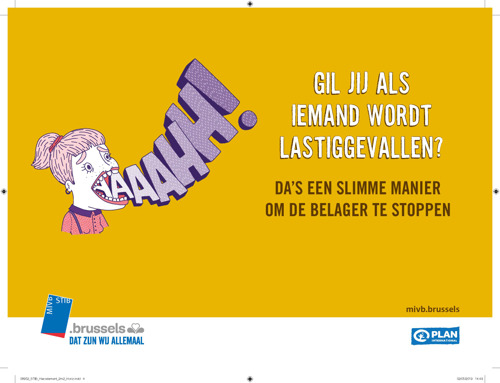 De MIVB en Plan International lanceren een campagne tegen seksistisch gedrag