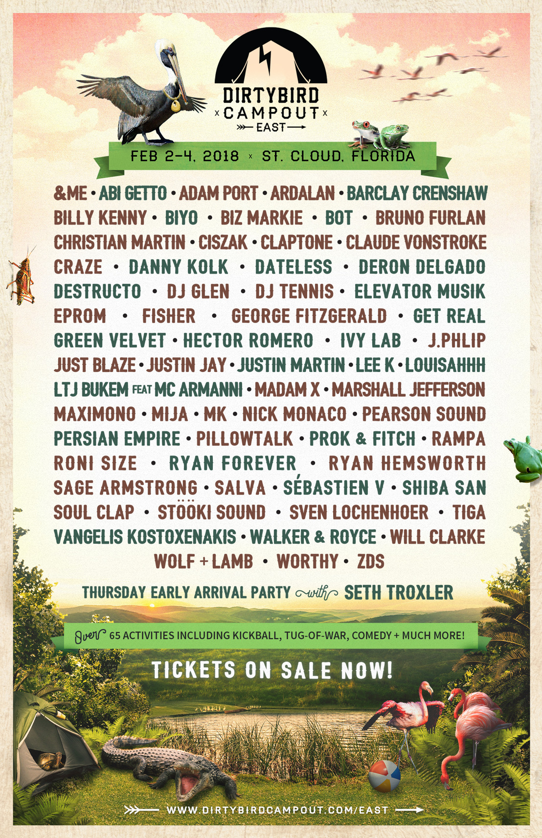 Claude VonStroke Reveals Dirtybird Campout East Coast Phase 3 Lineup, Dirtybird Selects Compilation, Artist Showcases