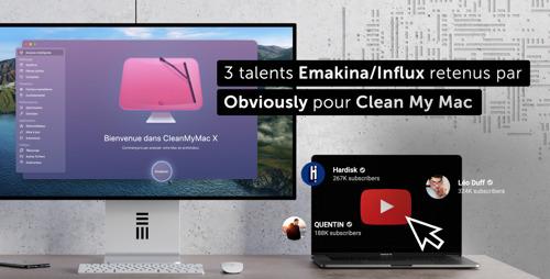 3 talents Emakina/Influx retenus par Obviously pour Clean My Mac pour lutter contre la pollution numérique