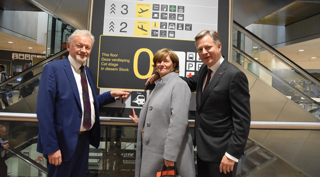 NMBS en Brussels Airport Company openen rechtstreekse toegang tussen treinstation en vele bedrijven op luchthaventerrein.