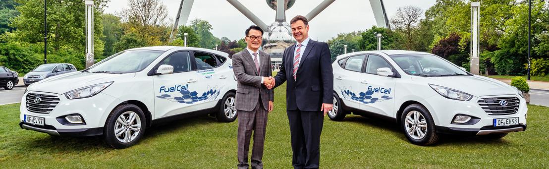 Hyundai Motor voor derde opeenvolgende jaar officieel aangesteld door EG-ondersteund partnership om elektrische brandstofcel-demonstratievoertuigen te leveren.