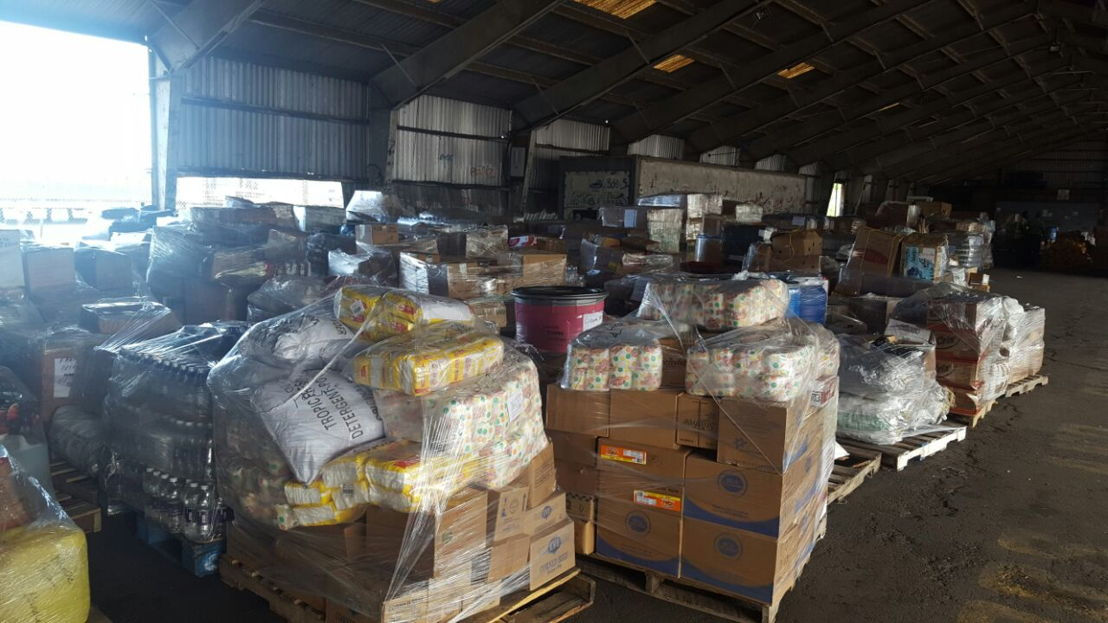 Vital food and emergency supplies from SVG heads to the BVI