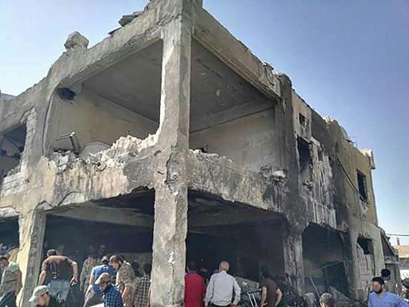 Le 6 août un hôpital soutenu par MSF à Millis, Idlib en Syrie a été bombardé. Quatre personnels médicaux et 9 patients sont décédés, parmi lesquels des enfants. © MSF