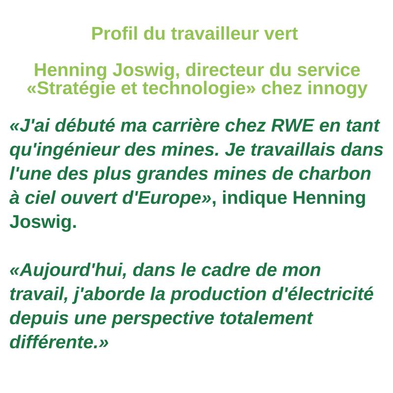 Profil du travailleur vert - Henning Joswig