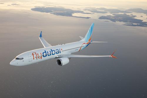 flydubai showcases its first Boeing 737 MAX 8 at the Dubai Airshow