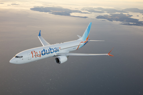 flydubai showcases its first Boeing 737 MAX 8 at the Dubai Airshow