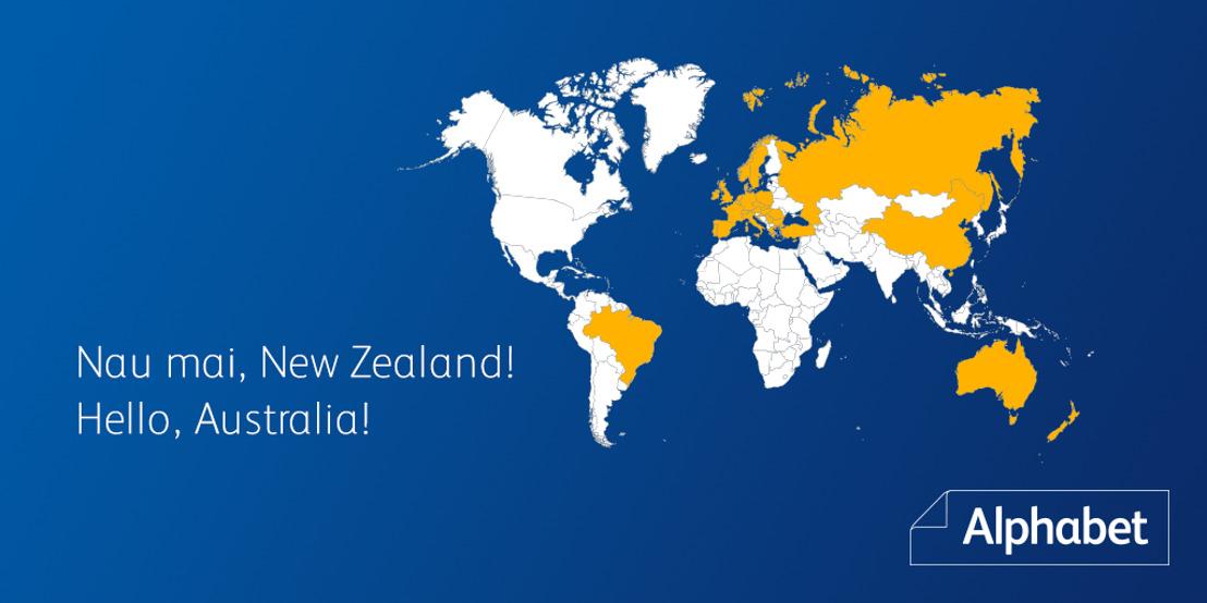 Nau mai: Alphabet breidt uit met een nieuwe partner in Nieuw-Zeeland en Australië.