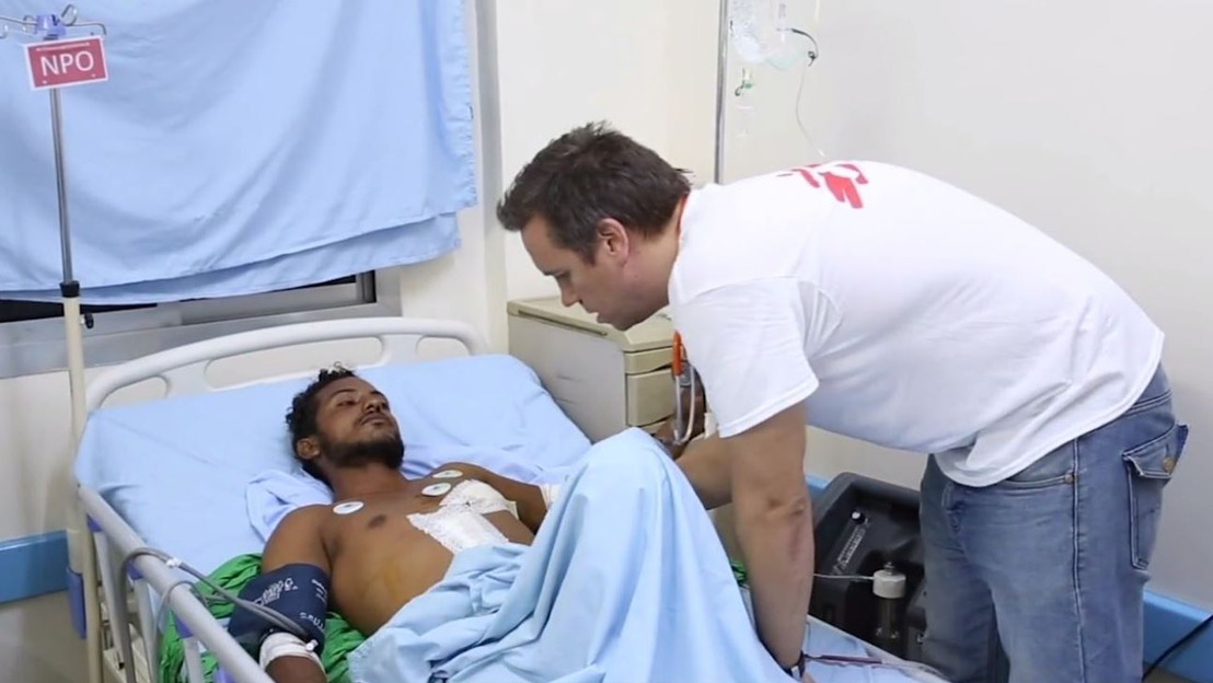 """""""La mayoría de las heridas que vemos están causadas por la metralla y las explosiones"""""""