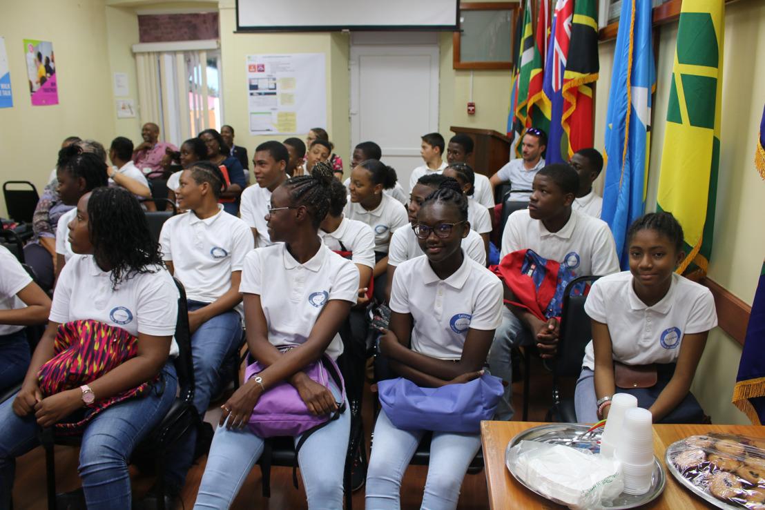Des collégiens martiniquais en visite au siège de l'OECS