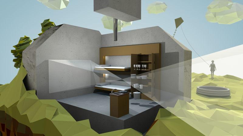 Bunker in 3D - 3