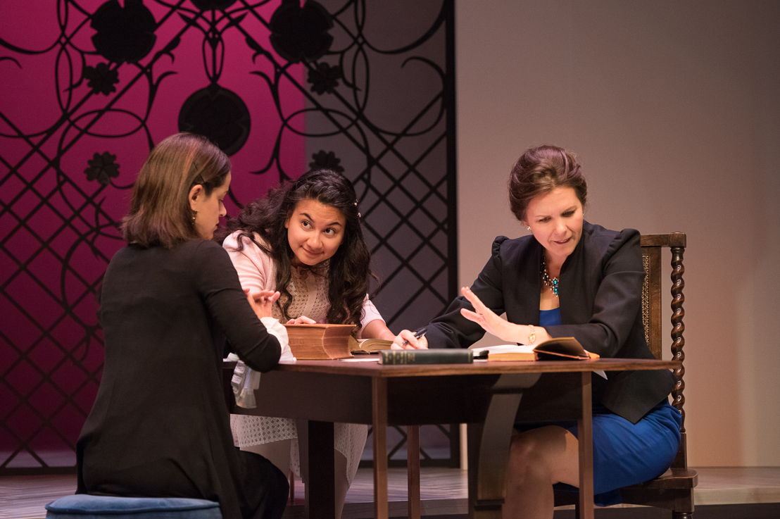 Anie Richer, Mahalia Golnosh Tahririha, and Celine Stubel in The Last Wife by Kate Hennig / Photos by Emily Cooper