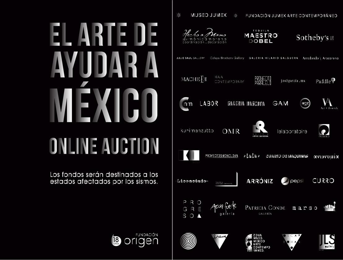 """Fundación Origen continúa con la subasta online """"El Arte de Ayudar a México"""""""