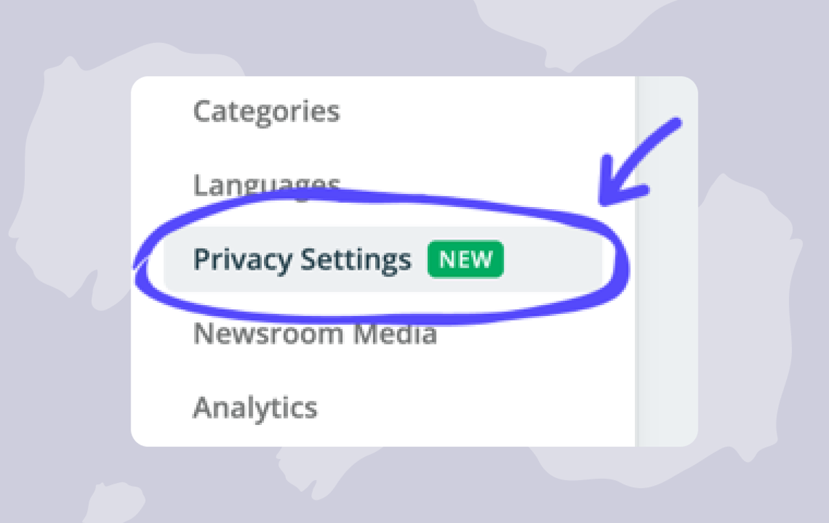 Help: Privacy settings for your newsrooms