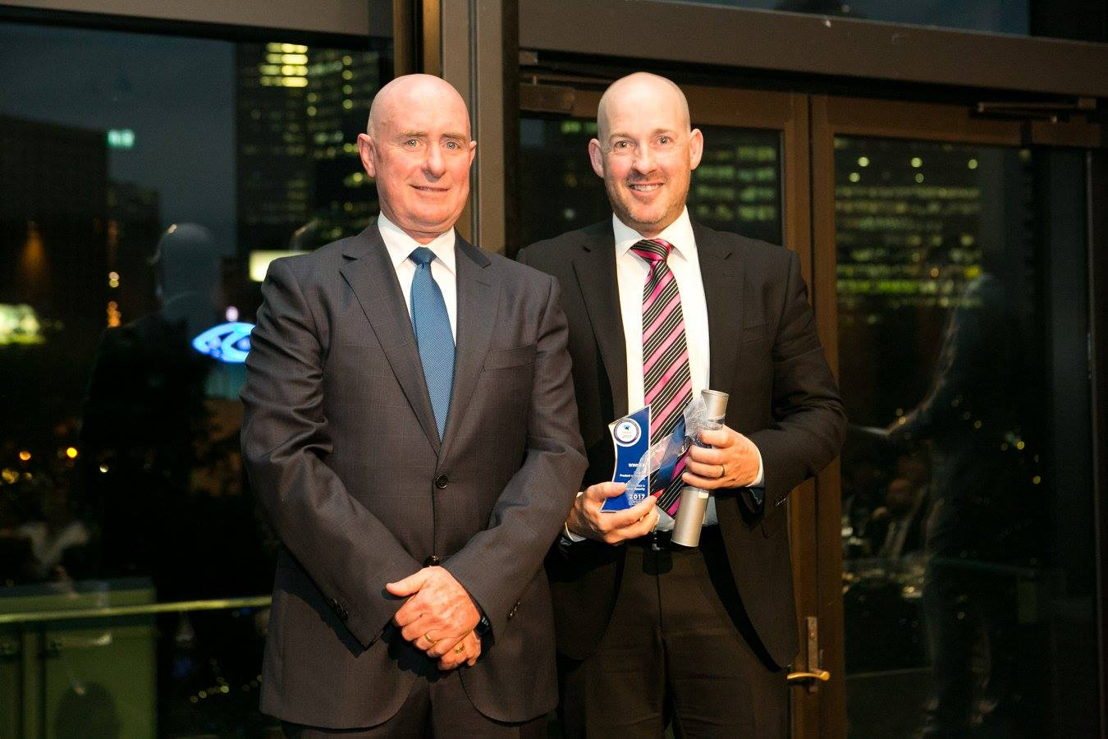 (L to R) Kevin McDonald, ASIAL President with Phil Marr, Gallagher National High Security Manager (Australia)