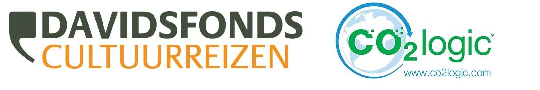 Logo's Davidsfonds Cultuurreizen en CO2logic