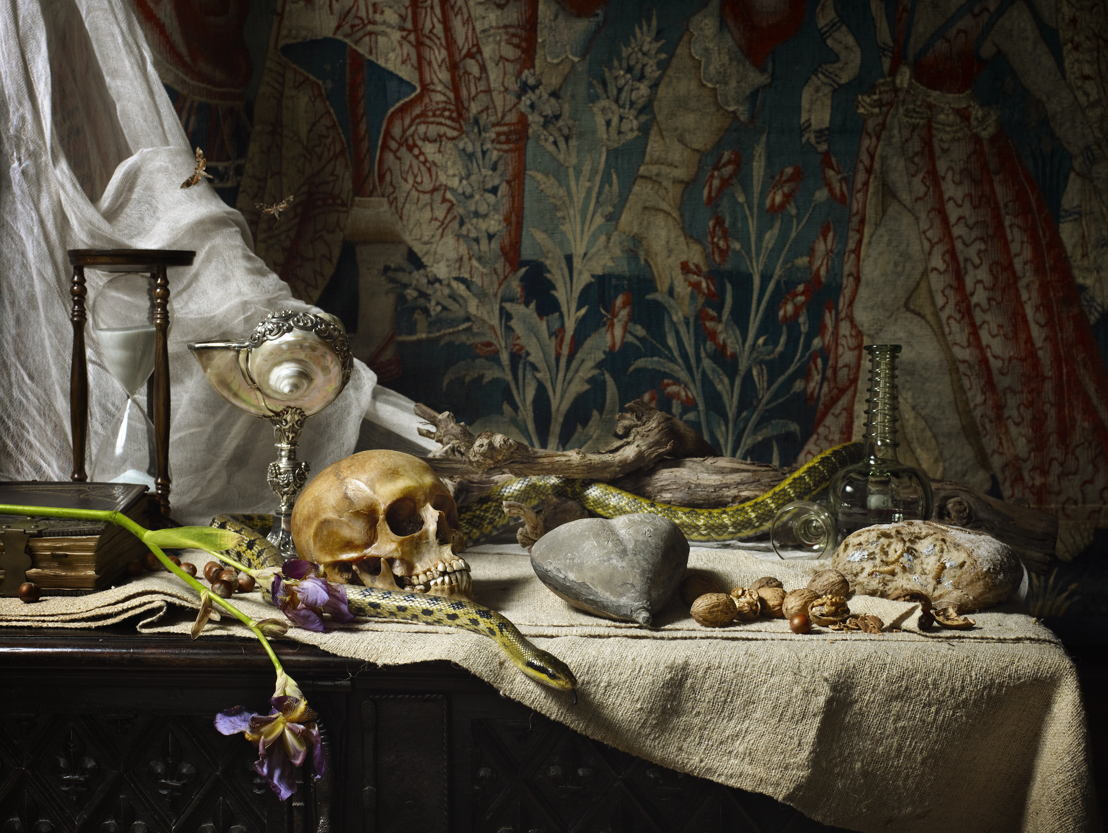 Erwin Olaf, Exquisite Corpses, Still life with Count of Egmont's heart, Vanitas, 2012, Commissioned by Gaasbeek Castle