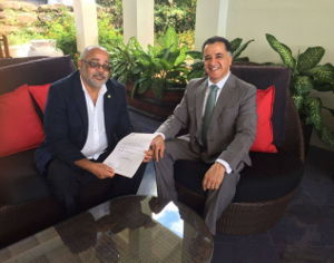 Mexican Ambassador presents credentials to Director General of the OECS