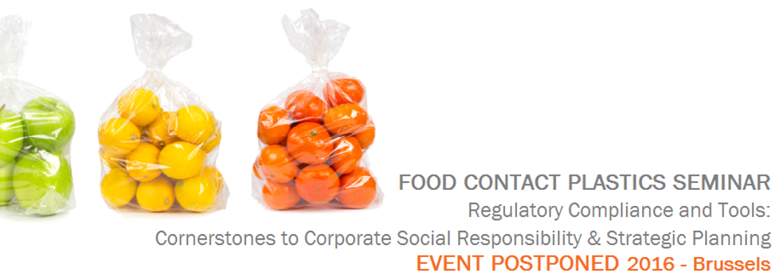 EuPC Food Contact Plastics Seminar 2016 - Postponed