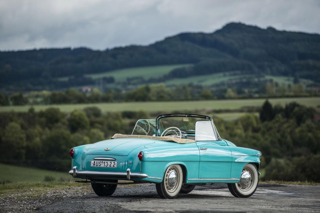 Anniversary of the ŠKODA 450: predecessor of the FELICIA Cabriolet celebrates its 60th birthday