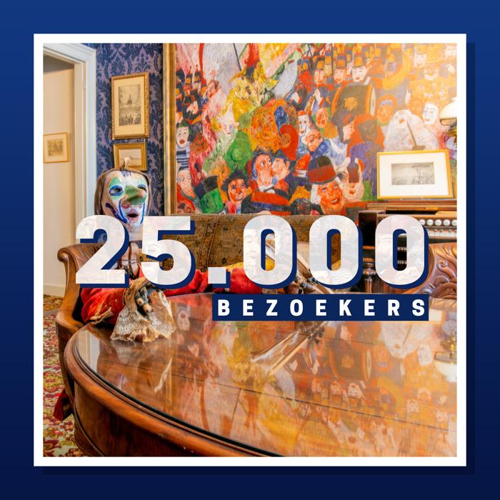 25.000 bezoekers in Het James Ensorhuis in Oostende