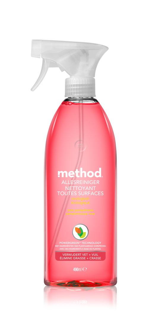 method allesreiniger roze grapefruit<br/>Verkrijgbaar bij Carrefour*<br/>Prijs: €3,89<br/>*in een getailleerd jasje vanaf juli 2018