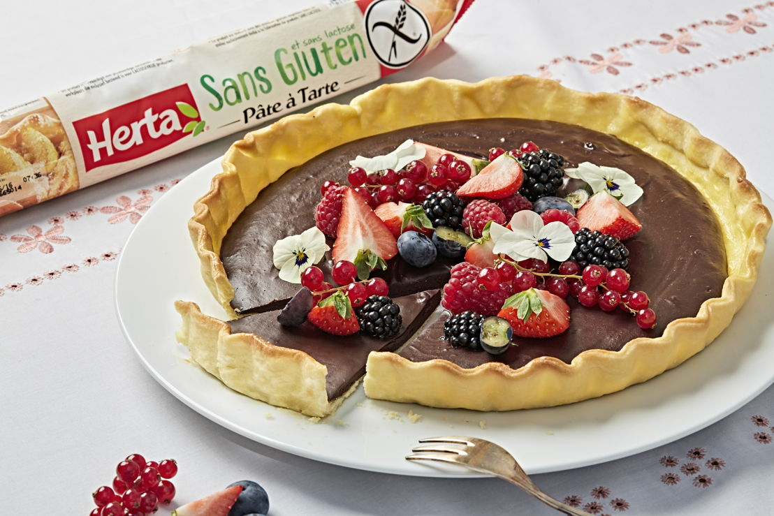 Herta - Tarte chocolat et fruits rouges