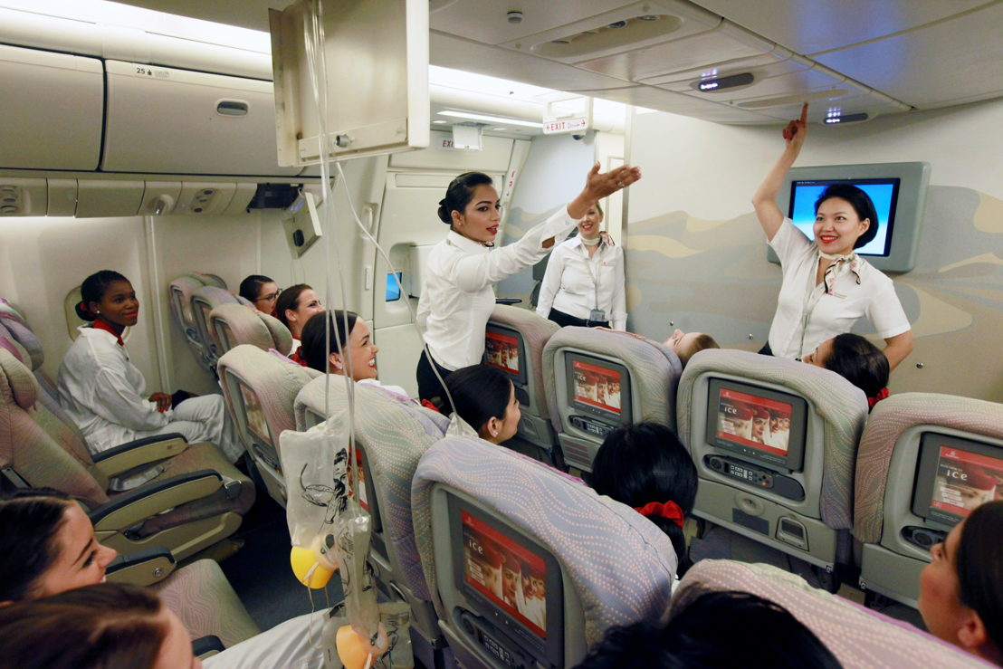 emirates cabin crew training has one of its busiest years rh emirates com Turkish Airlines Cabin Crew American Airlines Cabin Crew