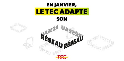 En janvier, le TEC adapte son réseau !