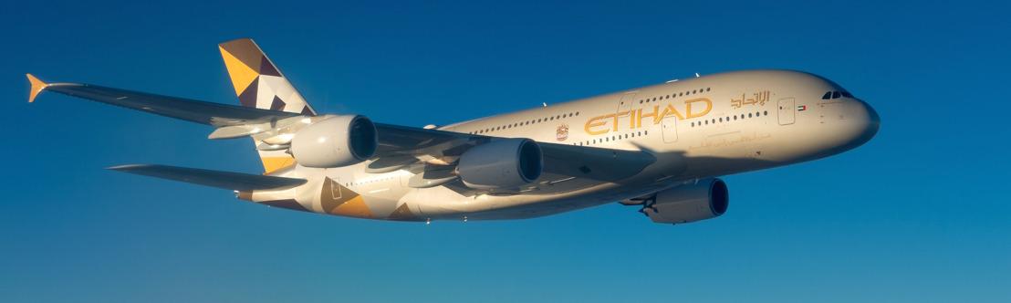 Tweede A380 van Etihad Airways vliegt tussen Abu Dhabi en London Heathrow