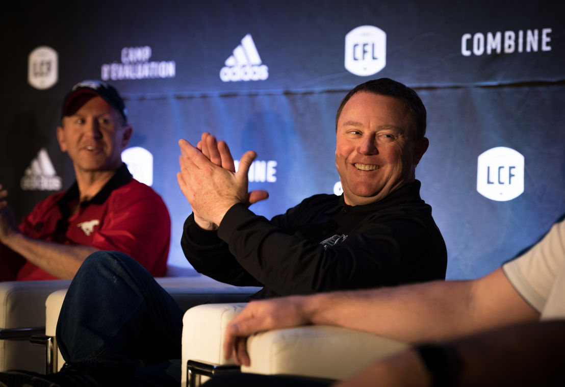 Chris Jones at the Football Operations Media Availability. Photo credit: Johany Jutras/CFL