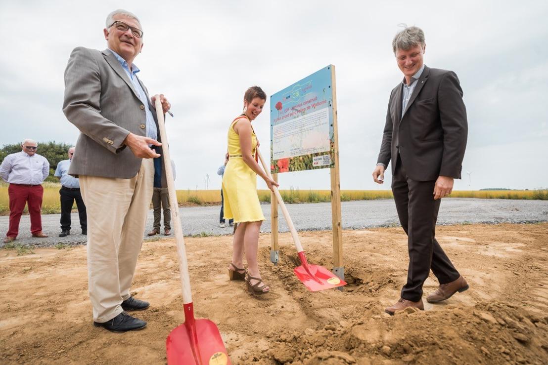 Start van de bouw van het grootste windmolenpark van Wallonië