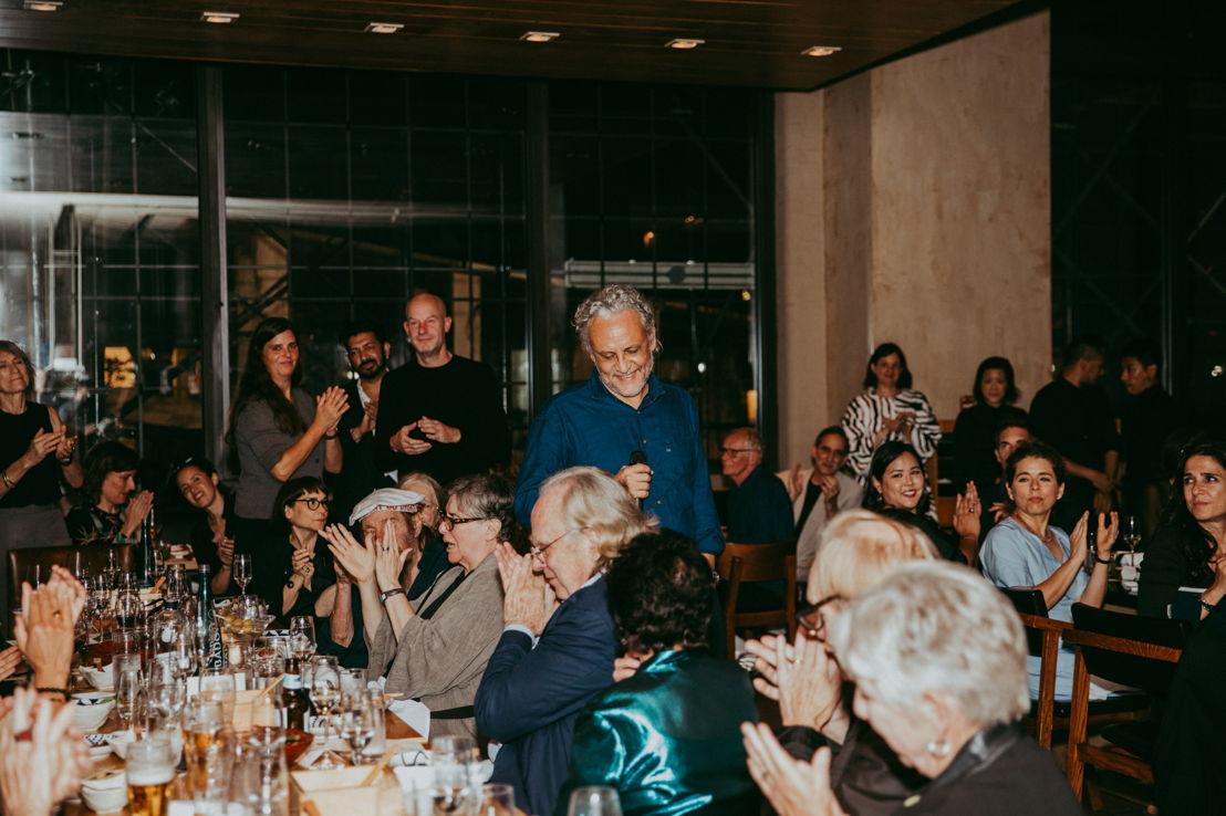 Cena de inauguración de la exposición del artista Gabriel Orozco en la Galería Marian Goodman