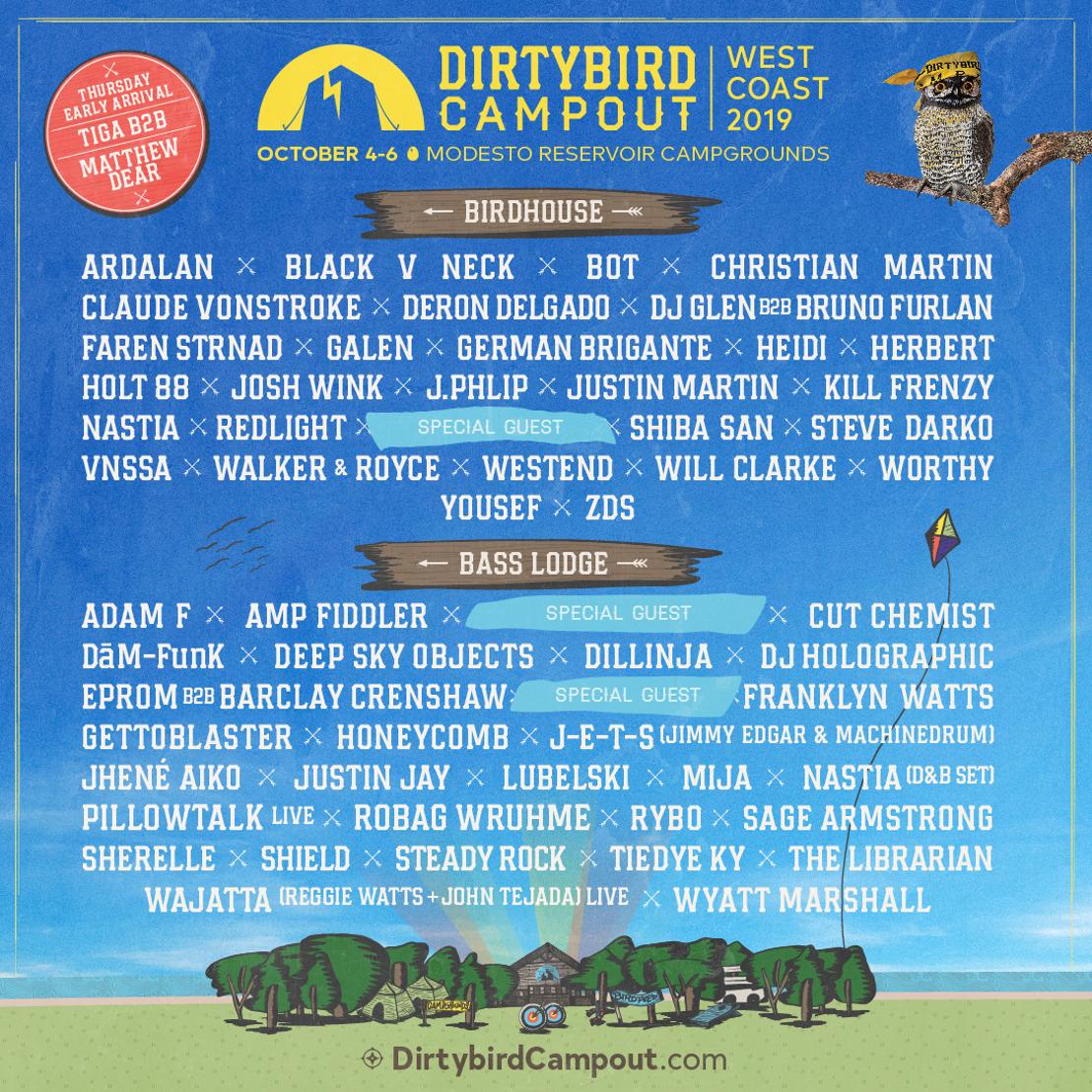 Dirtybird Campout Announces Lineup for 2019 West Coast Event