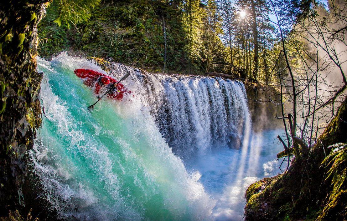 OUTFOUND - Kayak Over Waterfall