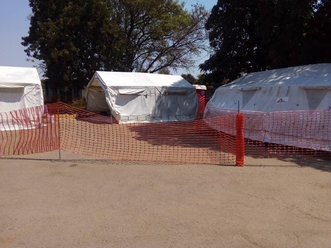 A Cholera Stabilizing Centre in Budiriro, Harare that was set up by MSF to support the City of Harare health department to respond to the cholera outbreak. MSF set up cholera treatment centres in Harare and Buhera during the cholera outbreak in Zimbabwe. Photographer: Gloria Ganyani