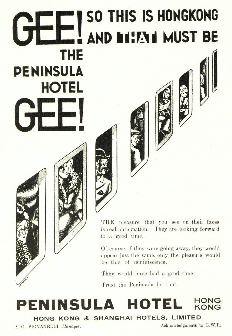 Vintage ad for The Peninsula Hotel, 1930s