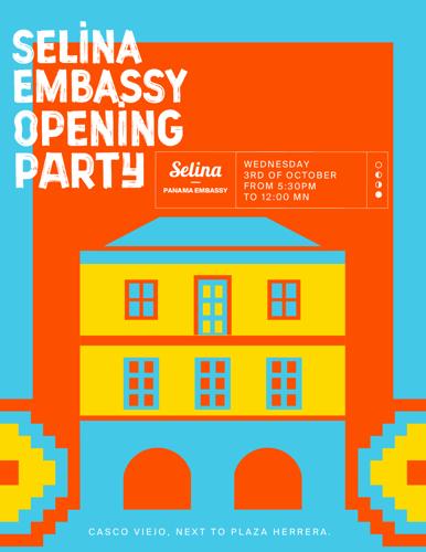 INVITACIÓN OPENING PARTY SELINA EMBASSY