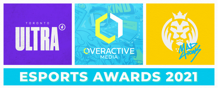 OVERACTIVE MEDIA AND TEAMS EARN SEVEN ESPORTS AWARDS NOMINATIONS