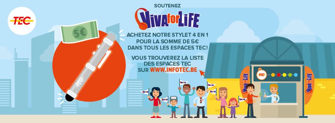 Le TEC soutient « Viva For Life » !