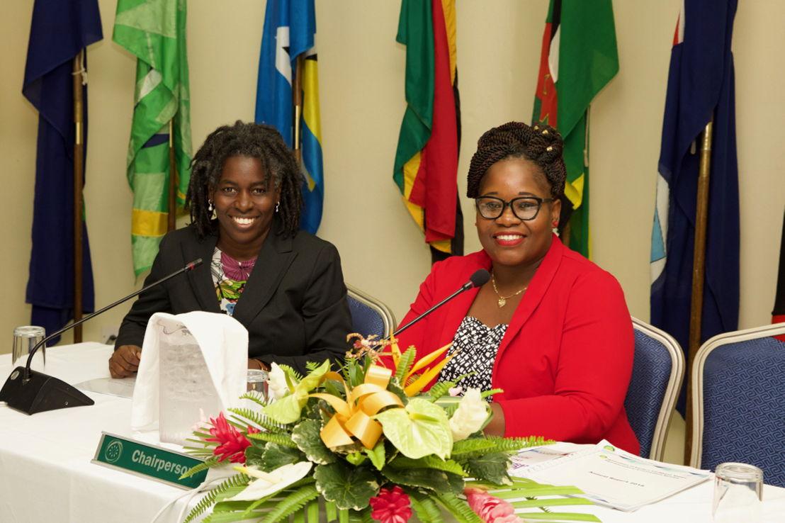 Dr. Carlene Radix- Head of Health, Hon Delmaude Ryan, Deputy Premier Montserrat and Chair of 5th COMH
