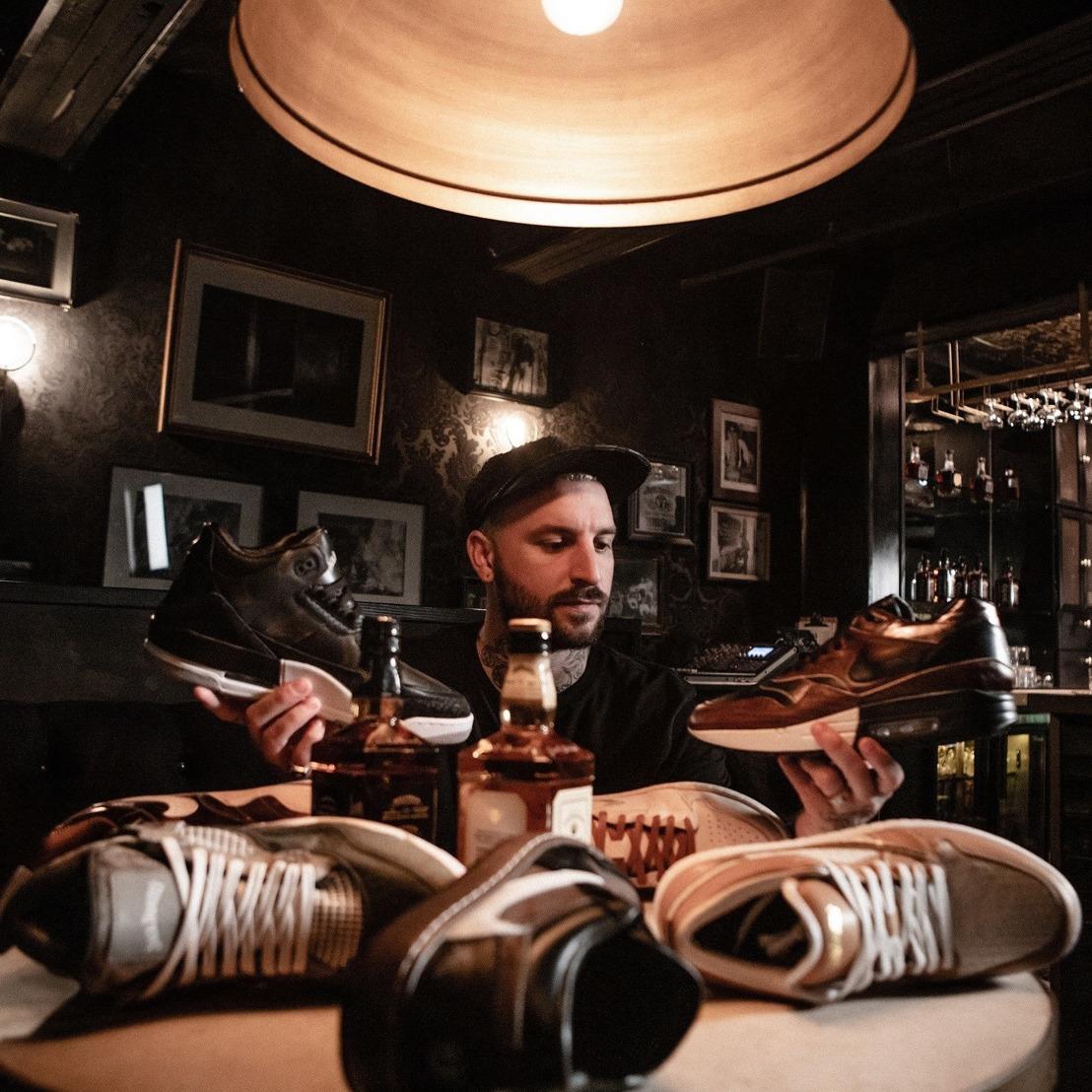 Conoce la colección de sneakers de Jack Daniel's Tennessee Old no.7 y Honey en conjunto con el reconocido diseñador The Shoe Surgeon.