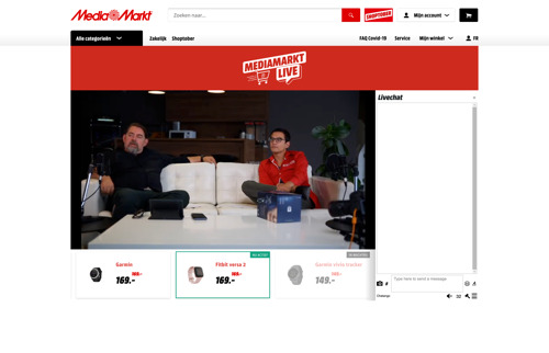 MediaMarkt introduceert Live Shopping op de Belgische markt