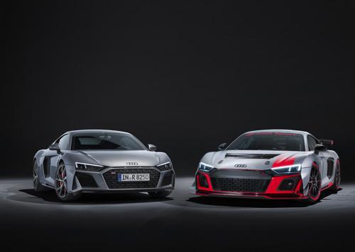 Nog scherper en meer in het oog springend: de Audi R8 V10 RWD en de Audi R8 LMS GT4